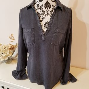 Mudd Stone Washed Gray Top